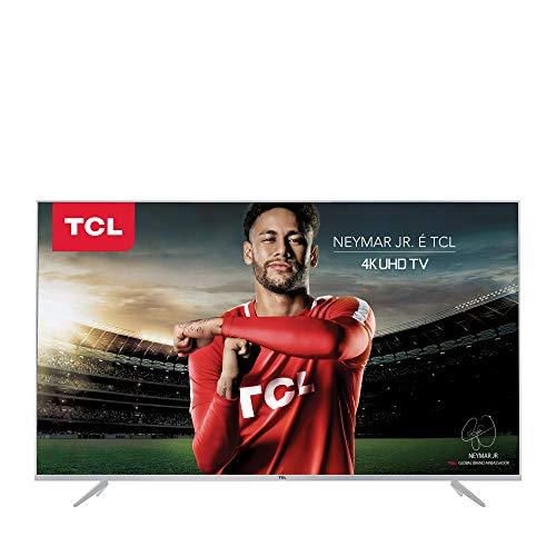 Smart TV LED 55' Ultra HD 4K, TCL P6US, Prata