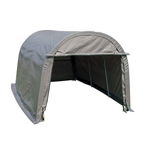 walnest Auto Storage Shelter Car Garage Steel Heavy Duty Carport Canopy Metal Frame Tent Waterproof (10×15×8ft, Gray)