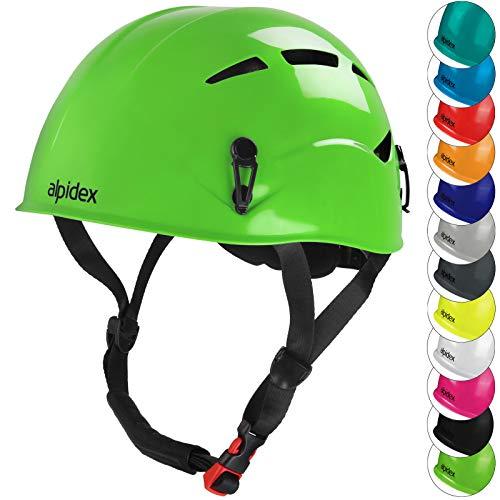 ALPIDEX Casco de Escalada Universal para Mujer y Hombre Casco ferrata en Verde