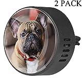 Carino cane francese Bulldog auto diffusore deodorante EVA auto aromaterapia diffusore di oli essenziali, frutto della passione floreale