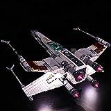 ZJJ Conjunto de iluminación LED Adecuado para Lego Building Block Model (Star Wars X-Wing Fighter) Kit de luz DIY Compatible con Lego 10240 (NO Incluye EL Set Lego)