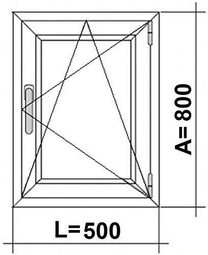 (V30M) Finestra PVC 500 x 800 Oscilobatiente destro 1 h