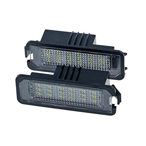 RJJ WYFAN 2Pcs 12V Led Number License Plate Light Lamps Fit For Golf 4 5 6 7 Car License Plate Lights Exterior Accessories (Color : Black)