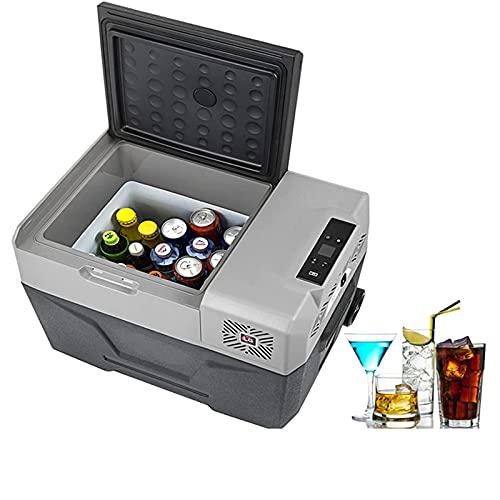 Refrigerador Congelador, -20 ° C, Mini Refrigerador Portátil Refrigerador Nevera, Pantalla LED, Protección de Voltaje, Ideal para Camping, Viaje, Picnic, Playa, Auto, 50 L