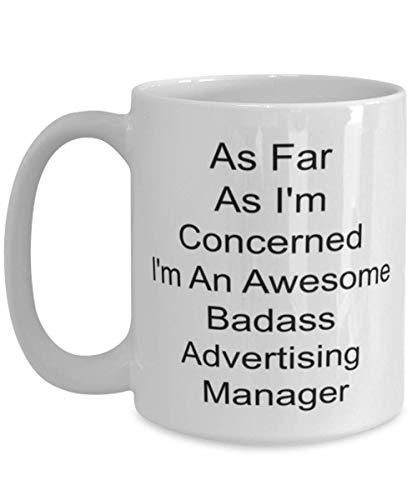 N\A Werbeleiter Tasse, 11 Unzen weiße Keramik für Tee und Kaffee, Management, Medienplanung, Werbemittel, Konto und Marke