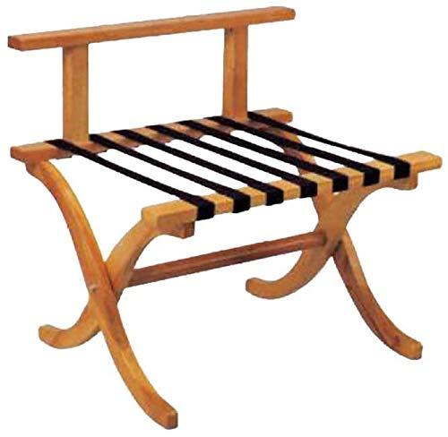 Faltbare Rückenlehne aus Holz Gepäckträger, Boden Zimmer Gepäckträger,Wood color