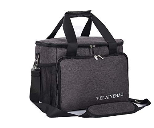 YELAIYEHAO Nurse Bag  Medical Bag Clinical Bag with Inner Dividers for Home Visits  Health Care  Hospice  Gift for Nursing Students  Physical Therapists  Doctors (Medium  Grey)