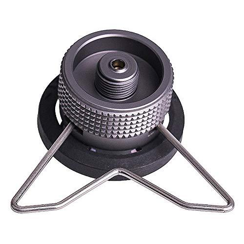 Terynbat Tanque de gas con adaptador de soporte, adaptador de estufa de camping conector convertidor de estufa adecuado para todo tipo de estufas