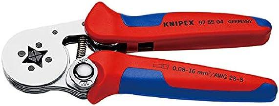 Knipex 97 55 04 SB Alicate autoajustable para crimpar Punteras Huecas de Acceso Lateral con Fundas multicomponentes Cromado (180 mm): Amazon.es: Bricolaje y herramientas