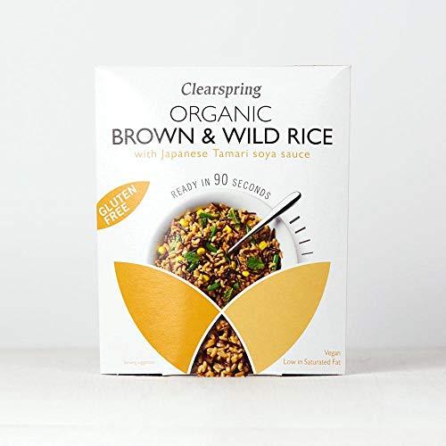 Clearspring - Organic Gluten Free Brown & Wild Rice with Tamari Soya Sauce - 250g