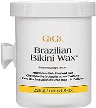 GiGi Brazilian Bikini Wax Microwave Formula - Non-Strip Hair Removal Wax, 8 oz