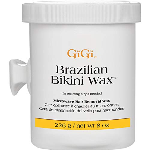 GiGi Brazilian Bikini Wax Microwave Formula - Non-Strip Hair Removal Wax, 8 oz