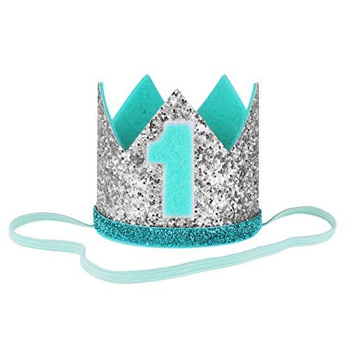 iEFiEL Beb/é Primer Cumplea/ños Corona beb/é Princesa Tiara Corona Estilo Corona Diadema Fiesta Sombrero de Sirena