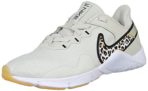 Nike W Legend Essential 2 Prm, Trainer Donna, Light Bone Black Wheat White, 36.5 EU
