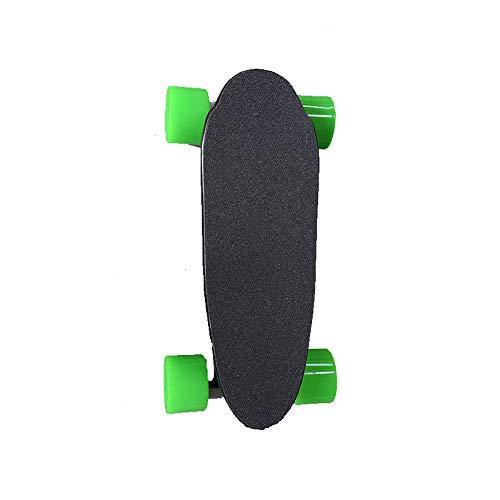 Lixibei Elektrisches Skateboard, Top Speed Cruise Motorisierte kleine Fischplatte Intelligentes kabelloses Skateboard mit Fernbedienung für Mädchen und Jungen,Grün