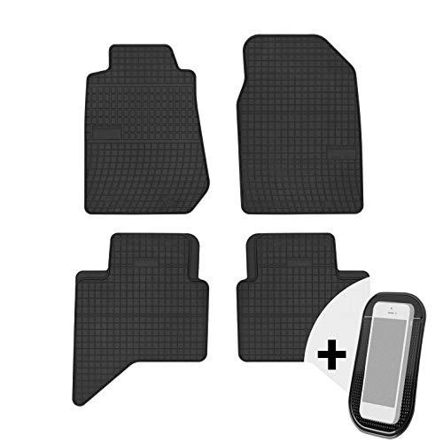 moto-MOLTICO Gummimatten Auto Fußmatten Gummi Automatten Passgenau 4-teilig Set - passend für Isuzu D-MAX ab 2011