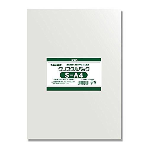 シモジマ ヘイコー 透明 OPP袋 クリスタルパック A4 100枚 S-A4 006739200