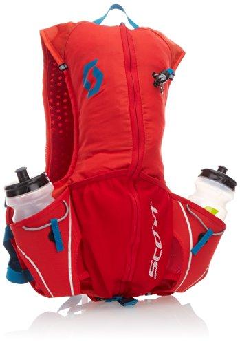 SCOTT TP 10 - Chaleco de Marcha con Compartimentos para bidones y Bolsas de hidratación (52 x 20 x 6 cm), Color Rojo y Azul