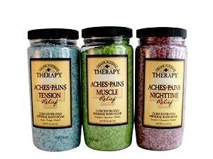 Village Naturals Therapy Aches and Pains Concentrated Bath Soak Salts (Variety Pack) by Village Naturals Therapy