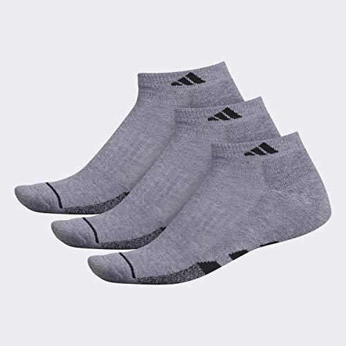 adidas - Calcetines acolchados para hombre (3 pares), Calcetines acolchados (3 pares), Hombre, color Gris jaspeado/Gris jaspeado – Negro Marla/Negro, tamaño large