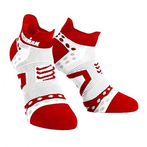 COMPRESSPORT - Proracing Socks V2.1 Ultralight Run Low - Ironman Mdot, Red T2, T2