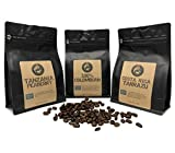 Air Roasted Coffee Sampler: Costa Rica Tarrazu, Tanzania Peaberry, 100% Colombian Supremo (6oz / each Whole Bean Bags) - Good As Gold Coffee Roasters