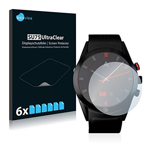 Savvies 6X Schutzfolie kompatibel mit Arrow Smartwatch Bildschirmschutz-Folie Ultra-transparent