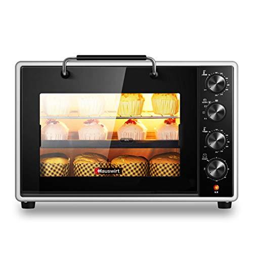 Mini-bakoven en grill met 40 liter, met 5 kookfuncties, instelbare temperatuurregeling en timer, inclusief accessoires, 1800 W zwart