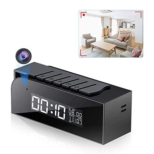 Telecamera Orologio 1080P WiFi Videocamera di Sorveglianza Microcamera con 33FT Visione Notturna IR Automatica & Rilevamento del Movimento per Ufficio e Casa