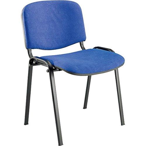 Sedia ufficio per visitatore Agata Ergosit ignifugo blu D500/4/AL4 (conf.4)
