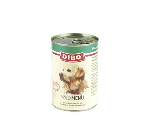 DIBO - MENÜ WILD, 400g-Dose mit Nudeln, Karotten und Kräutern, DIBO-Qualität