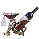 ZYFJJ Porte-Verres Résine Wine Rack/vin de Table Support de Rangement/Countertop Affichage Porte-vin - Idéal for Rouge/Blanc Vin, Cadeau for l'anniversaire, Noël, Mariage (Color : Brass)