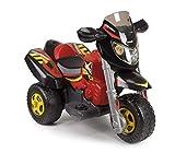 FEBER Trimoto Red Racer - Moto électrique à 3 roues pour enfants de 3 à 7 ans, 6v, Rouge (Famosa 800012227)