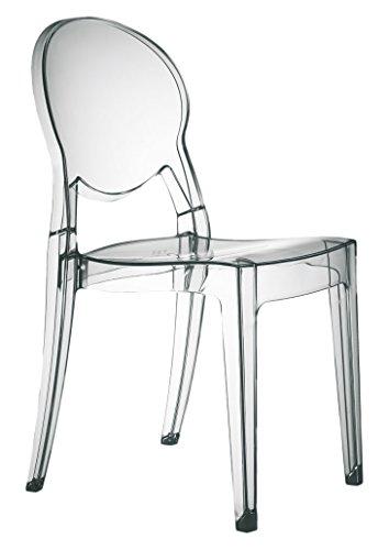 Scab Design Igloo Silla policarbonato diseño, 87x45x52 cm