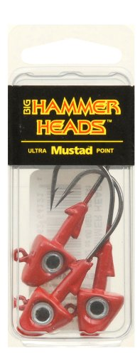 Big Hammer Jig Head with 4/0 Hook, Red, 1/2-Ounce