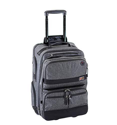 Onli Travel Venture Rolling Pack - Modular 3-part rolling bag - zip apart to avoid checking - TSA checkpoint friendly!