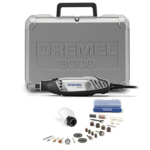 Dremel 3000-1/25 Variable Speed Rotary Tool Kit- 1 Attachment and 25 Accessories- Grinder, Sander, Polisher, Router, and Engraver- Perfect for Routing, Metal Cutting, Wood Carving, and Polishing