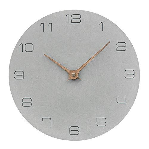 """W-NN Reloj de Pared Moderna, Gris Cuarzo """"la señal de no"""" Silent-Reloj de Pared Cocina o un Reloj Despertador hogar u Oficina del Reloj del Cuarzo del Movimiento for Mejorar la preci"""