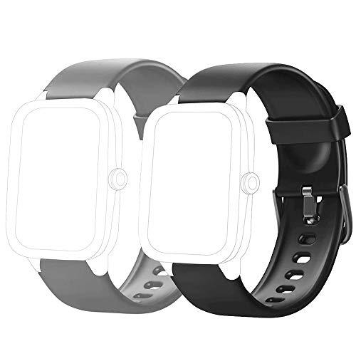 Flenco Correa de Repuesto ID205 ID205L ID205S ID205U ID20G Smartwatch Correa Reloj Inteligente Pulsómetros Mujer Hombre Pulsera de Actividad Monitor de Sueño Contador de Caloría Pulsera de Repuesto