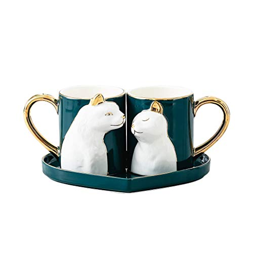 Liangzishop Mug Cerámica Taza de cerámica Personalizada Pareja Copa