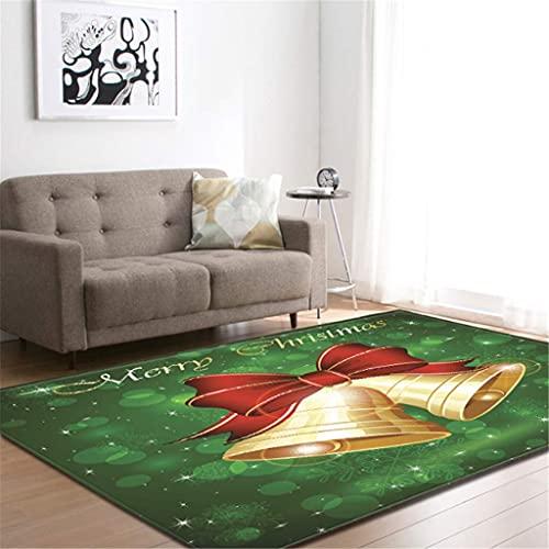 xuyuandass Carpet Moderncute Christmas Yellow Bell 3D Printing Living Room Bedroom Warm Rug 180X260Cm Yoga Mat Household Carpet