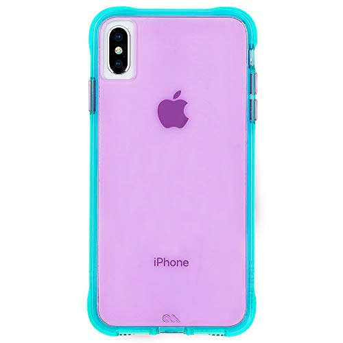 Case-Mate - iPhone XS Max Case - TOUGH - iPhone 6.5 - Turquoise/Purple Neon