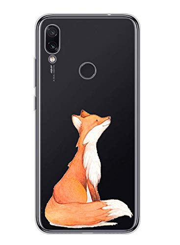 Caler Funda compatible con Motorola Moto One Vision, carcasa de silicona TPU transparente, suave y fina, funda protectora para teléfono móvil, carcasa de goma fina y flexible