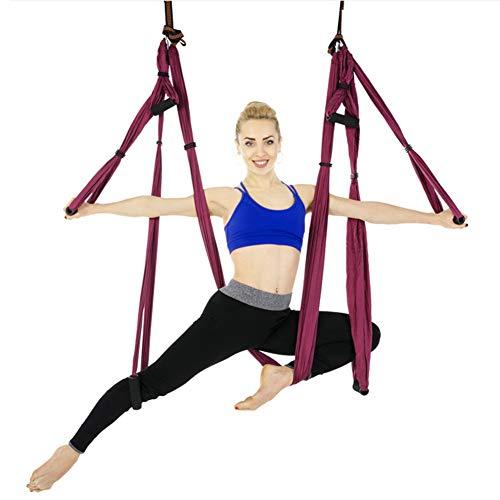 Anti-zwaartekracht-luchthangmat-yoga pilates-hangende beugel, de omstel-schommel-riem-hangmat voor thuis buiten vliegen
