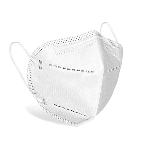 10 Pieces | Disposable Face Masks | Mouth and Nose Safety Protection | 5-Layer Filter Barrier | Manufactured for and Sold Exclusively by DecoPro