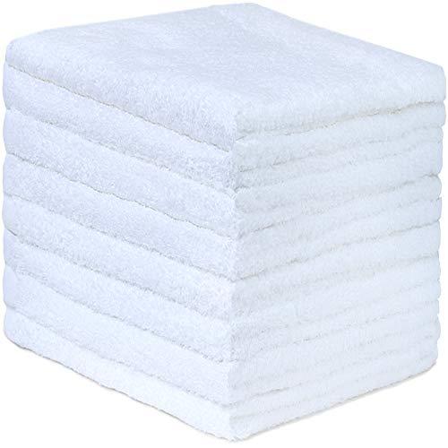 GREEN MARK Textilien 8er Pack Frottier Handtücher mit Aufhänger 50x100cm Handtuch 100% Baumwolle Farbe: Weiß