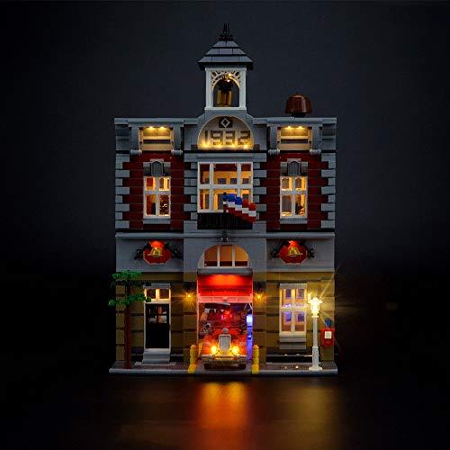 LODIY Beleuchtung Licht Set LED Beleuchtungsset für Lego 10197 Feuerwache Beleuchtung (Nicht Enthalten Lego Modell)