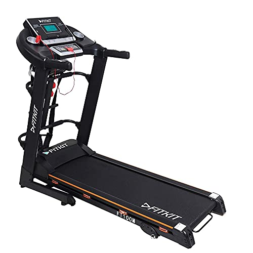 Fitkit FT100M Series 1.75HP (3.25HP Peak) Motorized Treadmill With Free at Home Installation Services and Free Diet & Fitness Plan