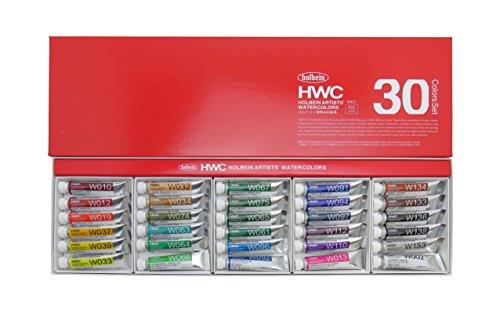 ホルベイン 透明水彩絵具 30色セット W407 5ml(2号) 003407