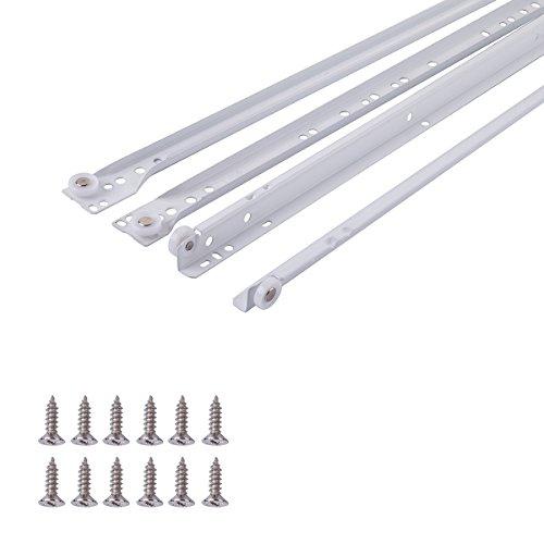 AmazonBasics – AB5011-R18-10 Schubladenschienen, 45,72cm, Pulverbeschichtung Weiß